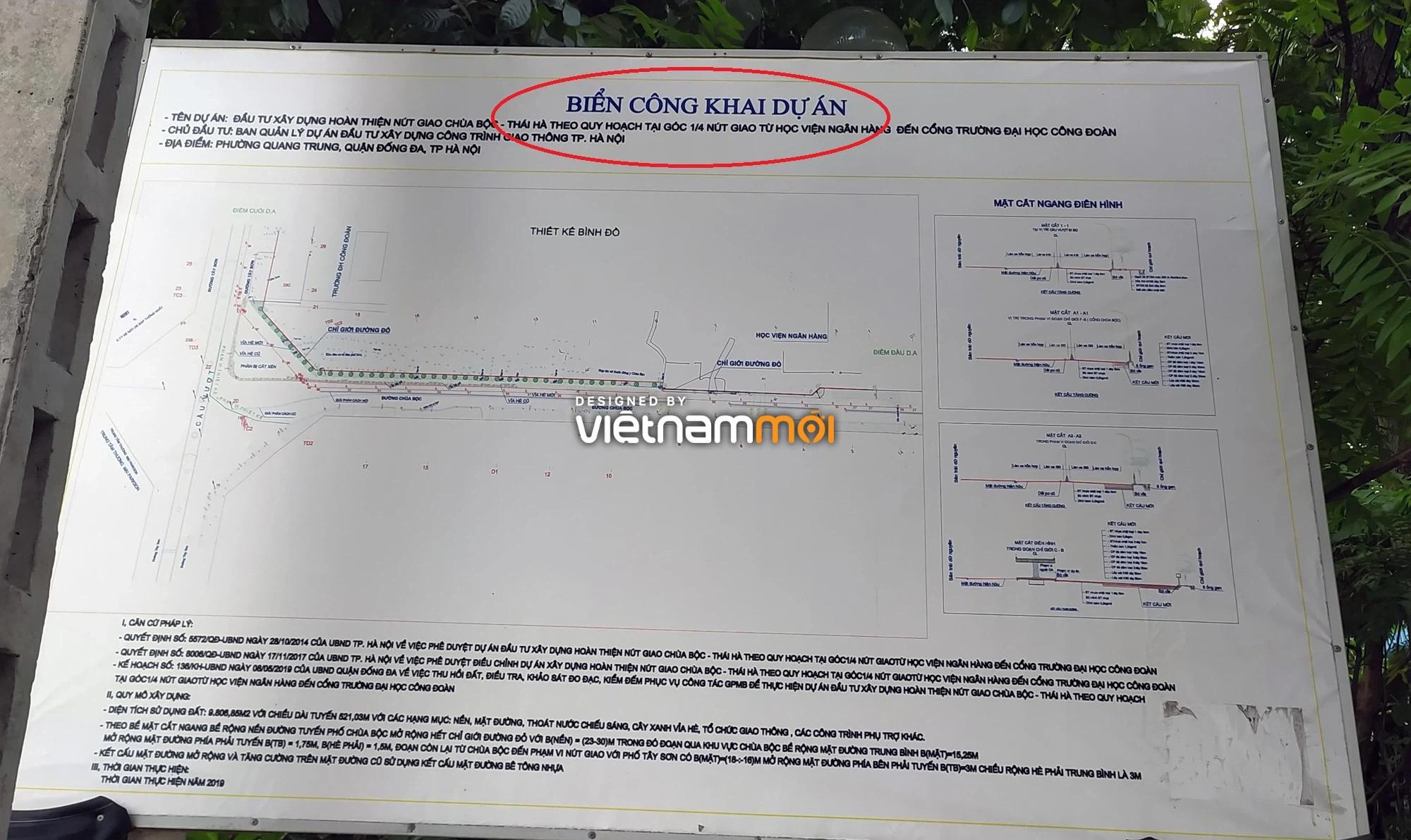 Cận cảnh khu vực thu hồi đất để hoàn thiện nút giao Chùa Bộc - Thái Hà - Ảnh 17.