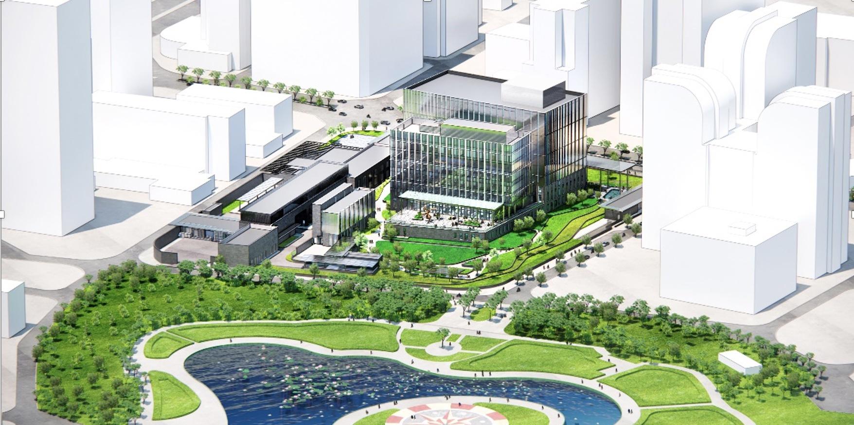 Trụ sở mới Đại sứ quán Mỹ: Nằm giữa 'Thung lũng Silicon' của Hà Nội, sẽ có tuyến metro chạy qua - Ảnh 1.