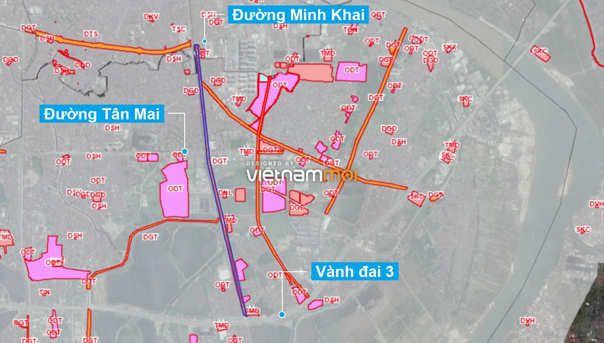 Những khu đất sắp thu hồi để mở đường ở quận Hoàng Mai, Hà Nội (phần 3) - Ảnh 1.