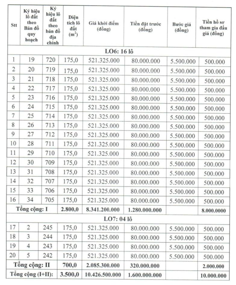 Phú Yên sắp đấu giá 20 lô đất, khởi điểm từ 521 triệu đồng/lô - Ảnh 1.