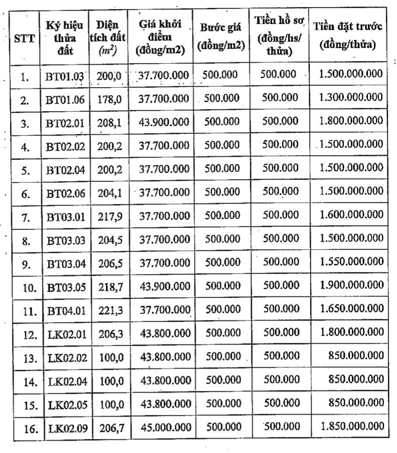 Quận Bắc Từ Liêm đấu giá 16 thửa đất biệt thự, khởi điểm từ 37,7 triệu đồng/m2 - Ảnh 1.