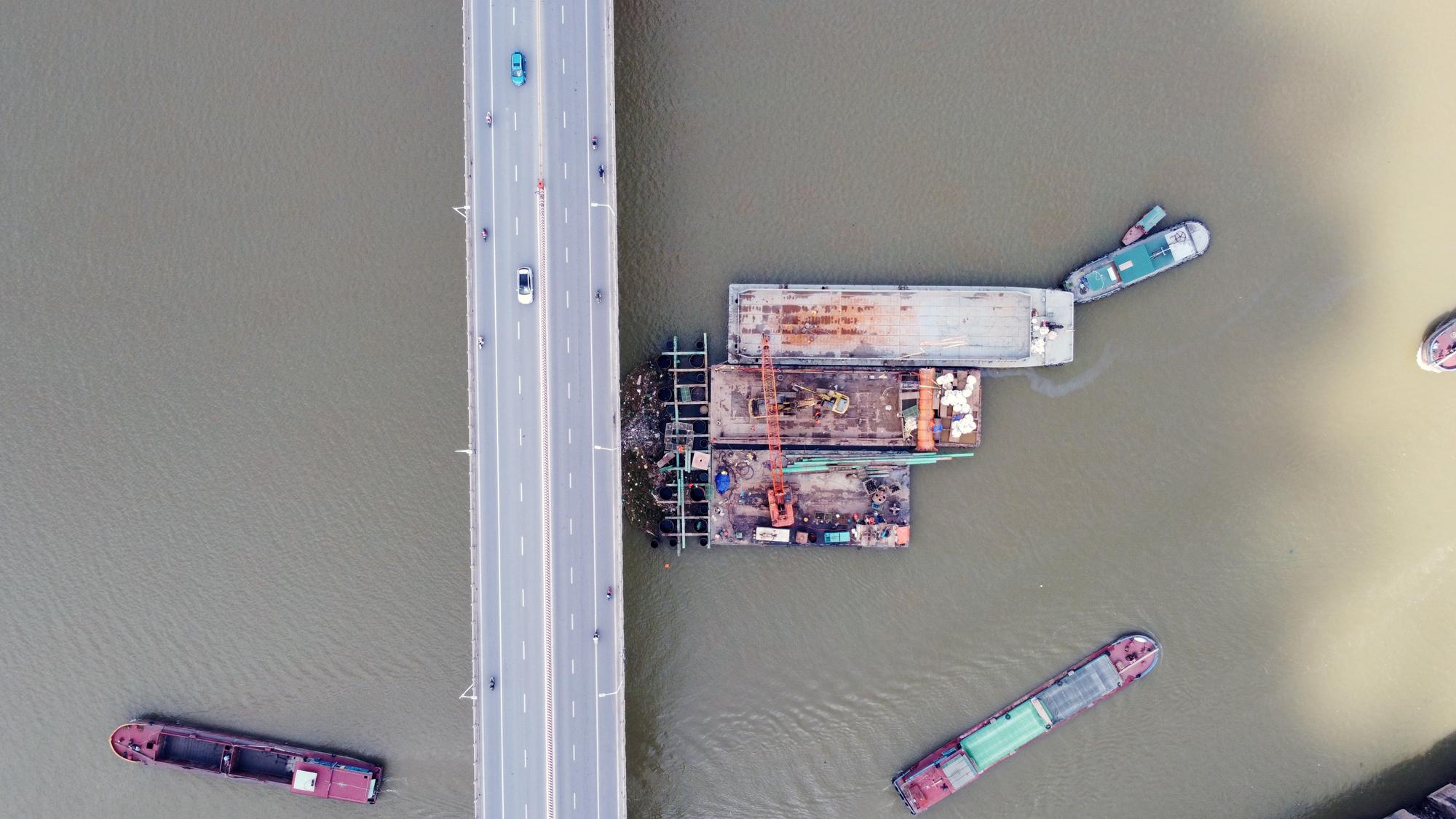 Hình ảnh dự án giao thông trọng điểm của Hà Nội thi công khi giãn cách xã hội - Ảnh 5.
