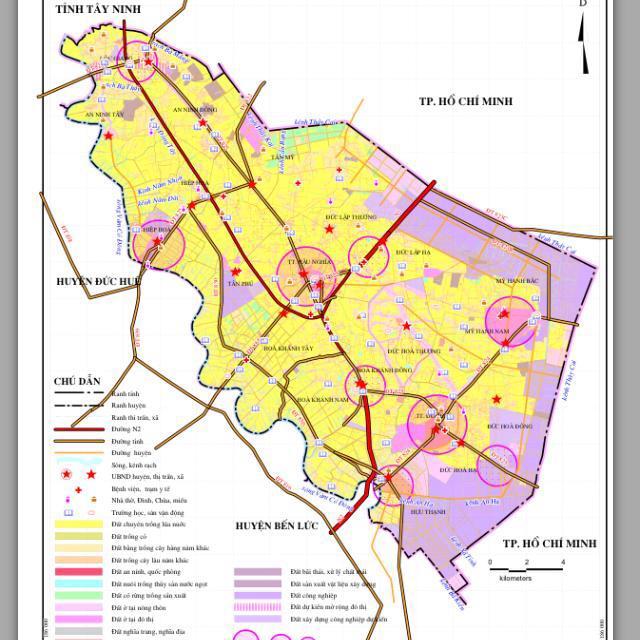 Bản đồ quy hoạch sử dụng đất huyện Đức Hòa, tỉnh Long An - Ảnh 2.