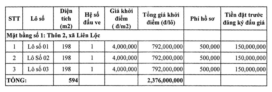 Thanh Hóa: Huyện Hậu Lộc đấu giá 19 lô đất, khởi điểm từ 4 triệu đồng/m2 - Ảnh 2.