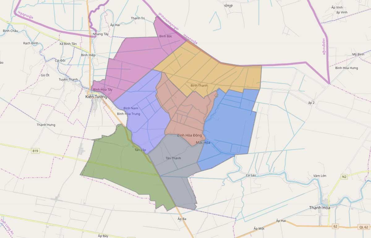 Bản đồ quy hoạch sử dụng đất huyện Mộc Hóa, tỉnh Long An - Ảnh 2.