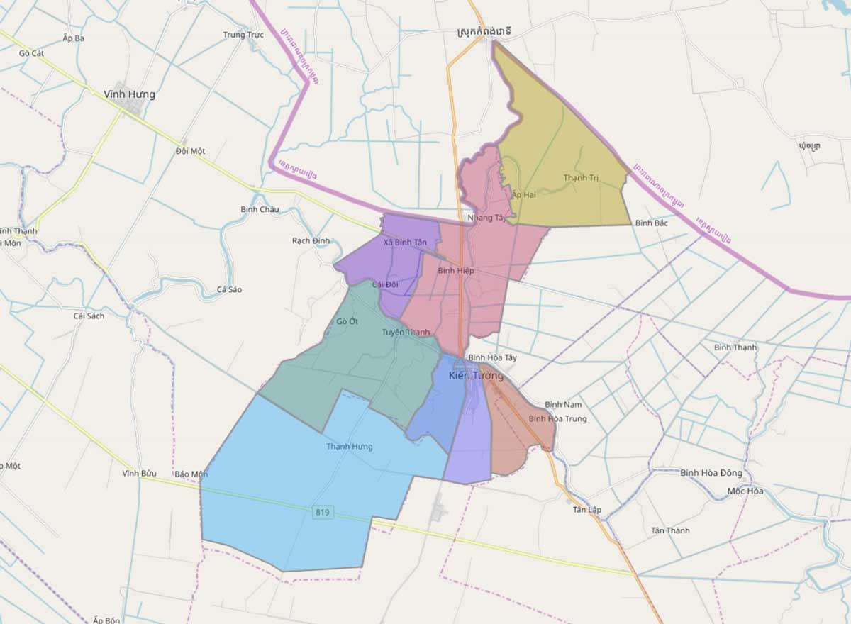 Bản đồ quy hoạch sử dụng đất thị xã Kiến Tường, tỉnh Long An - Ảnh 2.