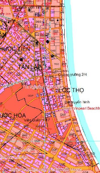 Bản đồ quy hoạch sử dụng đất phường Lộc Thọ, TP Nha Trang, tỉnh Khánh Hòa - Ảnh 2.