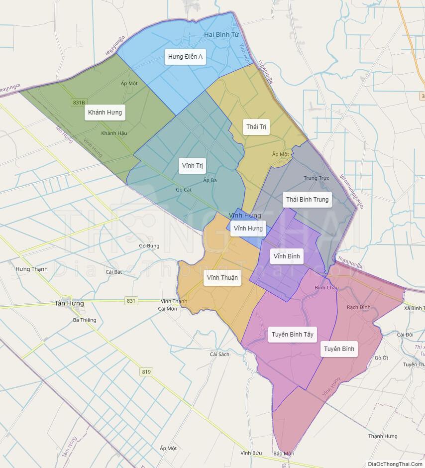 Bản đồ quy hoạch sử dụng đất huyện Vĩnh Hưng, tỉnh Long An - Ảnh 2.