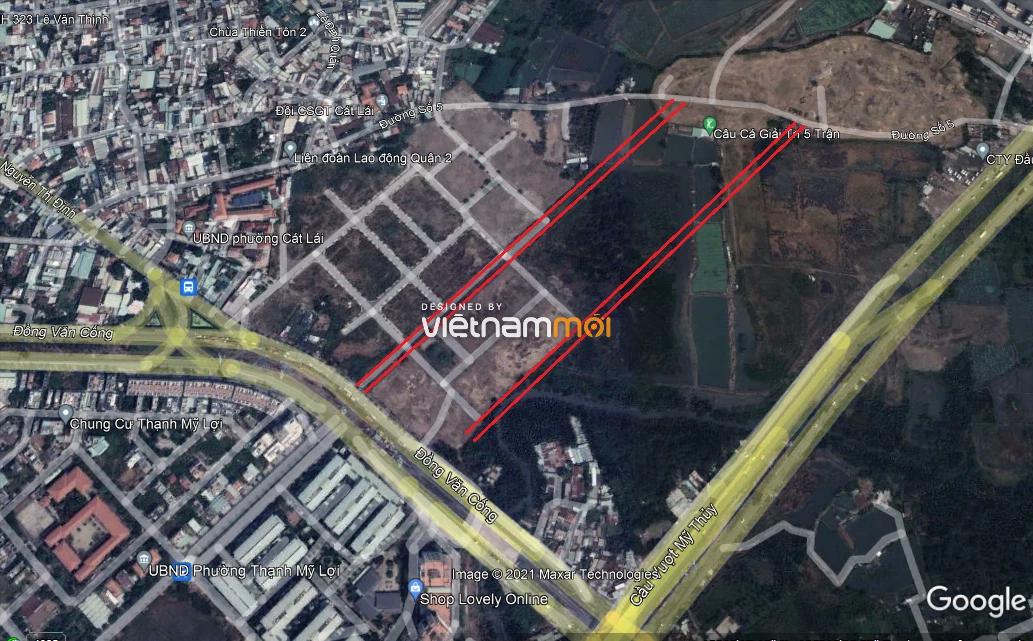 Đường sẽ mở theo quy hoạch ở phường Cát Lái, quận 2, Thủ Đức, TP HCM  - Ảnh 3.