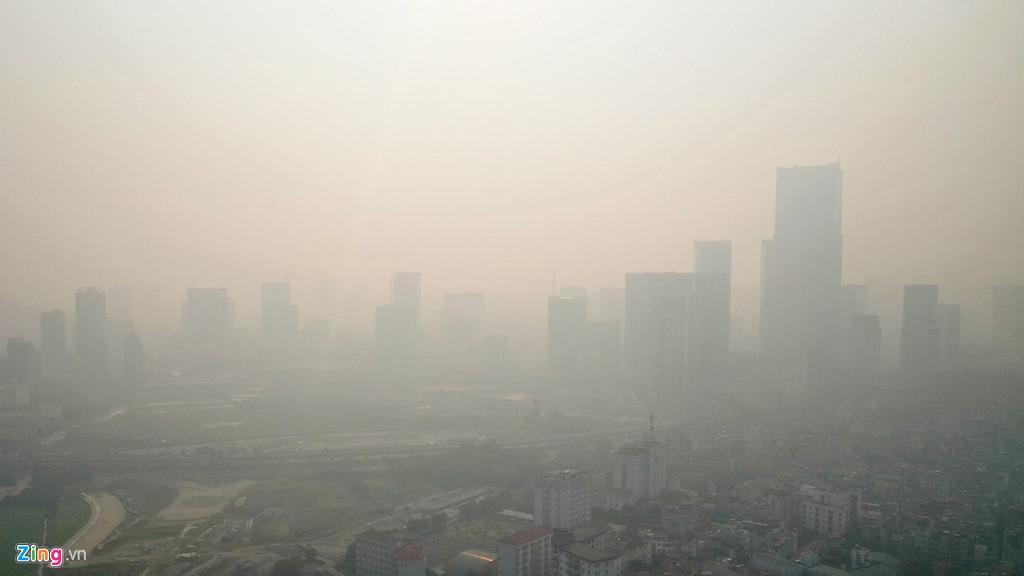 Hà Nội mù mịt trong ngày chỉ số ô nhiễm không khí cao kỉ lục - Ảnh 1.