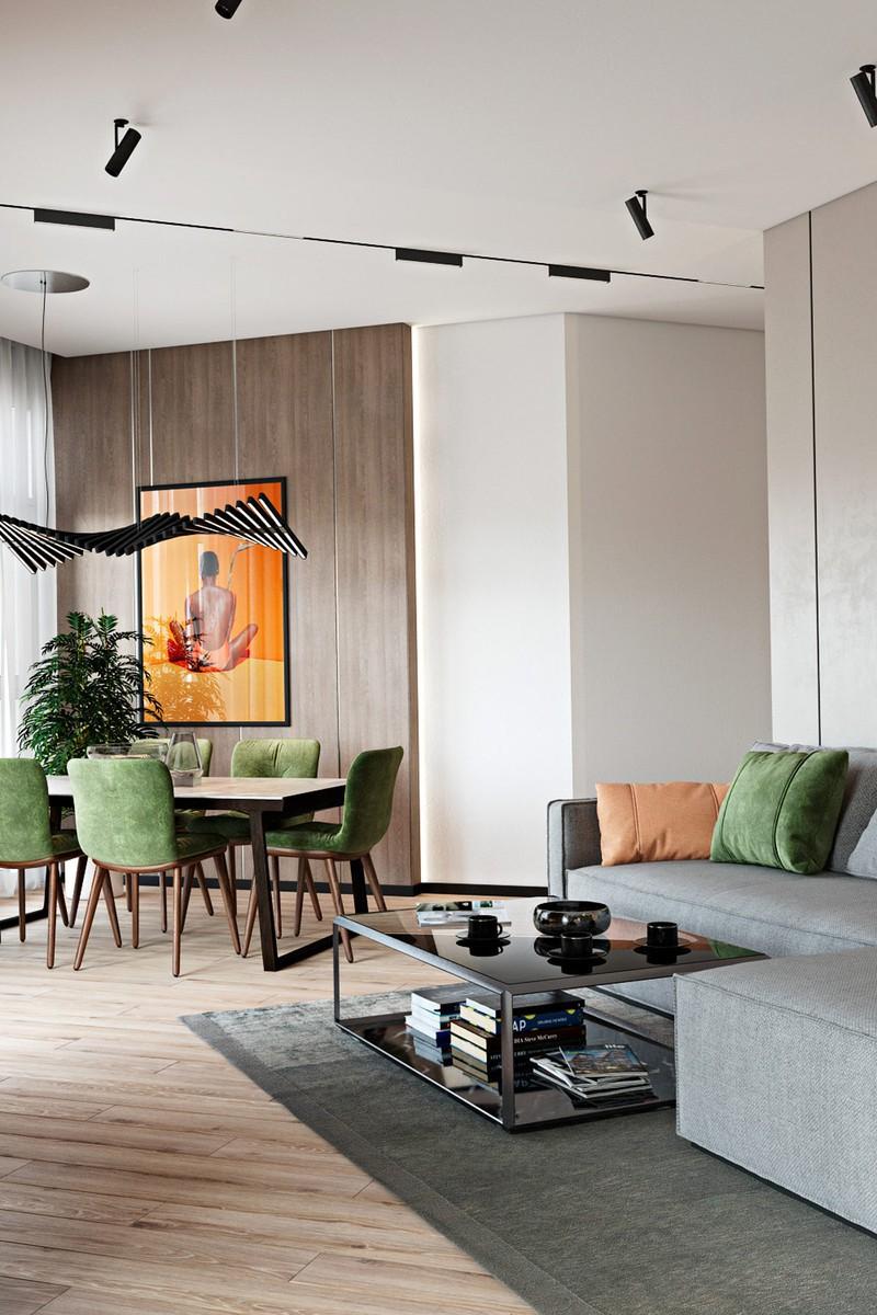 Thiết kế đẹp mắt của căn hộ có 2 phòng ngủ - Ảnh 3.