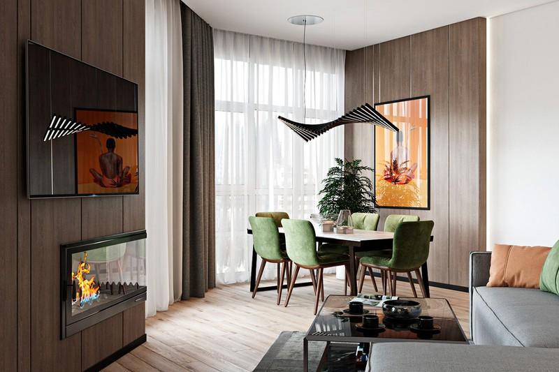 Thiết kế đẹp mắt của căn hộ có 2 phòng ngủ - Ảnh 4.
