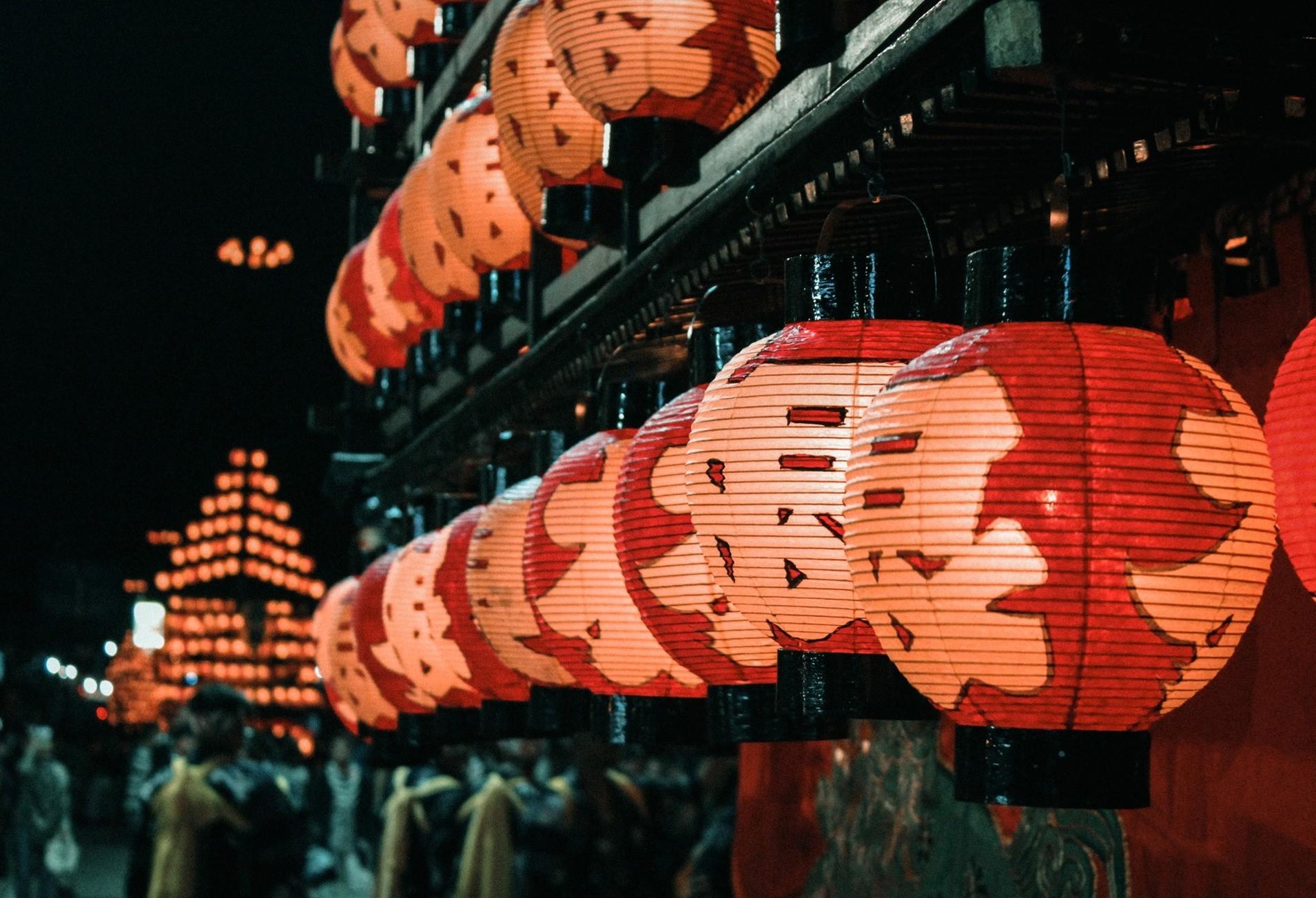 Chiêm ngưỡng lễ hội đèn lồng 350 tuổi ở Nhật Bản - Ảnh 1.