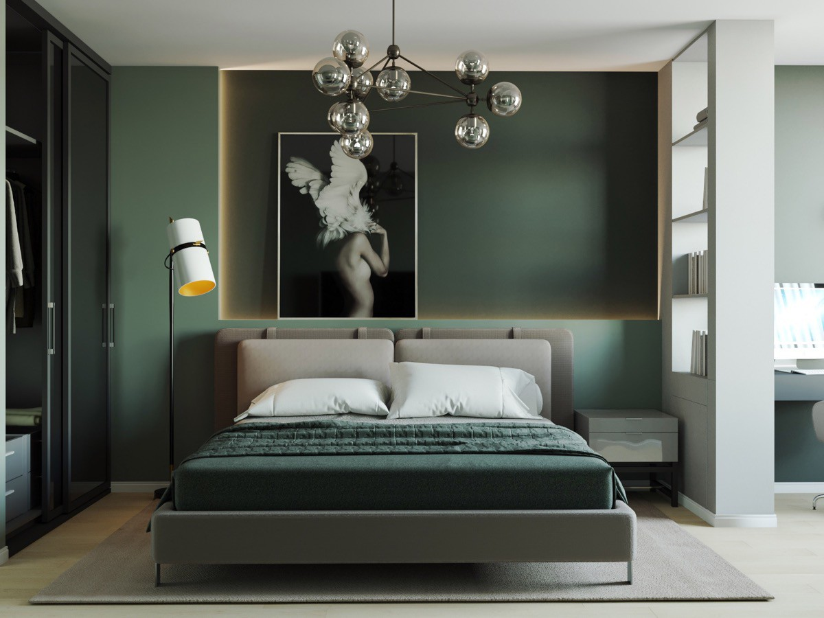 dark-green-bedroom-walls