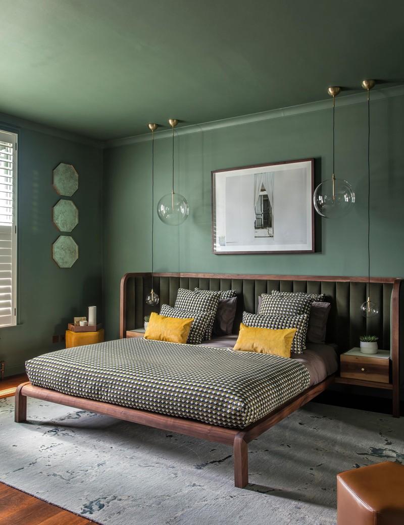 Trang trí phòng khách màu xanh căng tràn sức sống - Ảnh 1.
