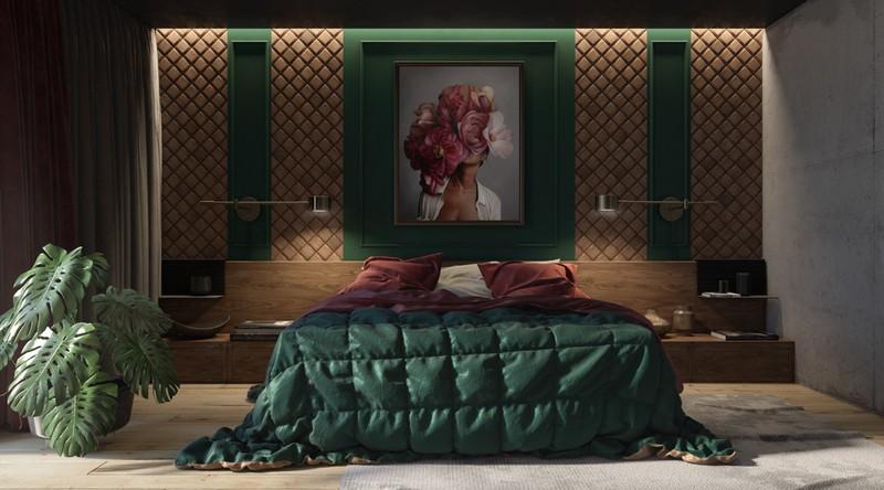Trang trí phòng khách màu xanh căng tràn sức sống - Ảnh 10.