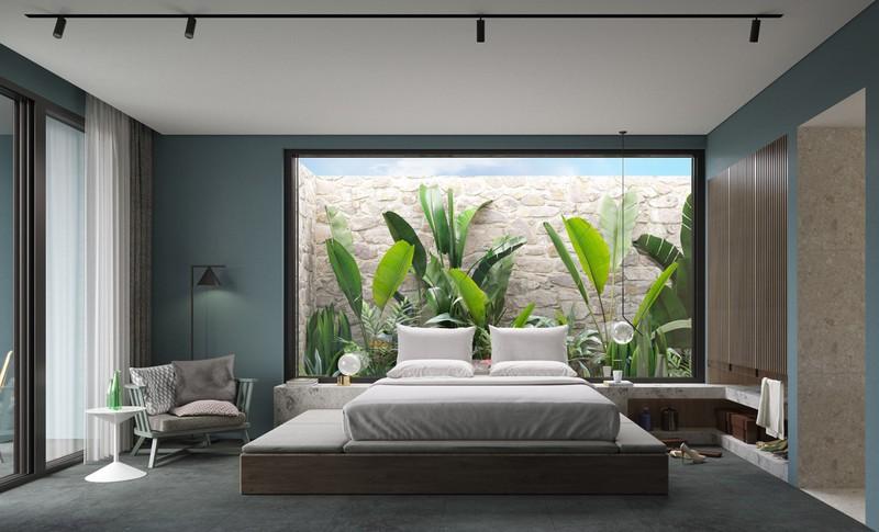 Trang trí phòng khách màu xanh căng tràn sức sống - Ảnh 12.
