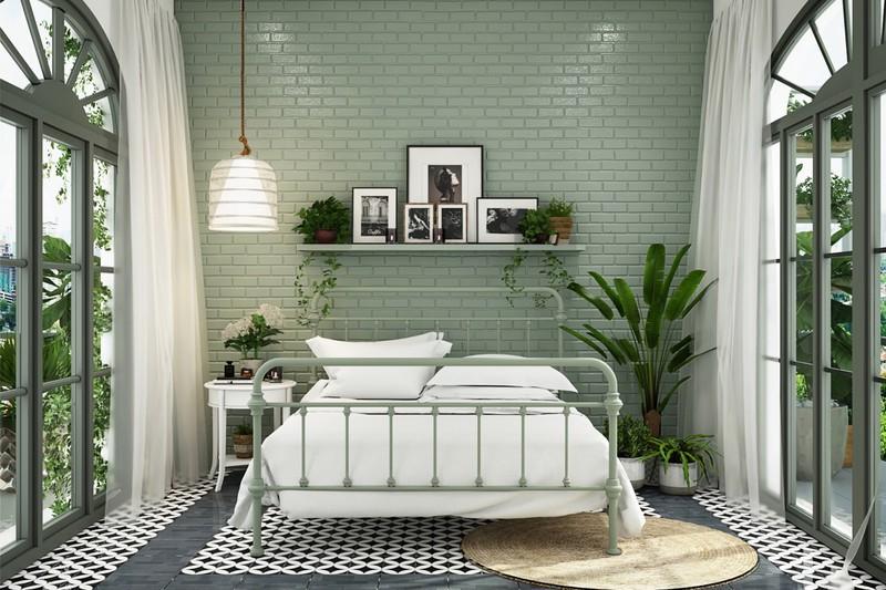 Trang trí phòng khách màu xanh căng tràn sức sống - Ảnh 5.