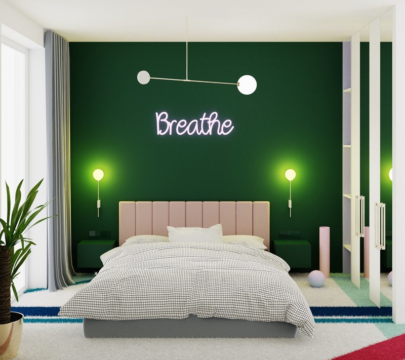 Trang trí phòng khách màu xanh căng tràn sức sống - Ảnh 7.