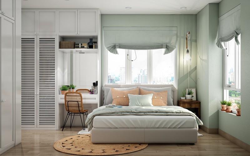 Trang trí phòng khách màu xanh căng tràn sức sống - Ảnh 9.