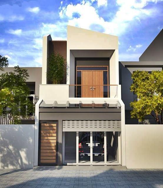 Mẫu nhà phố 2 tầng tuyệt đẹp cho khu đất mặt tiền hẹp - Ảnh 1.