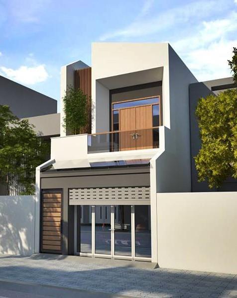 Mẫu nhà phố 2 tầng tuyệt đẹp cho khu đất mặt tiền hẹp - Ảnh 2.