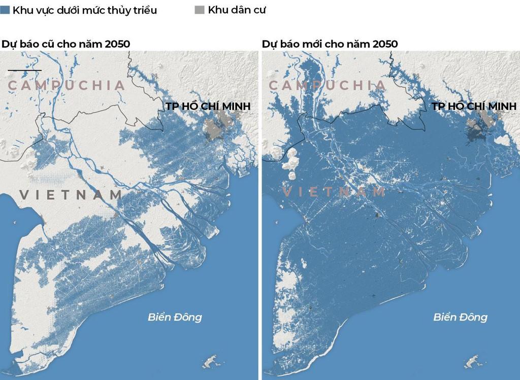Nature cảnh báo miền Nam ngập dưới đỉnh triều năm 2050 có đáng tin? - Ảnh 1.