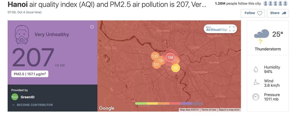 'Air Visual xếp Hà Nội đứng đầu về ô nhiễm là vô lí' - Ảnh 3.