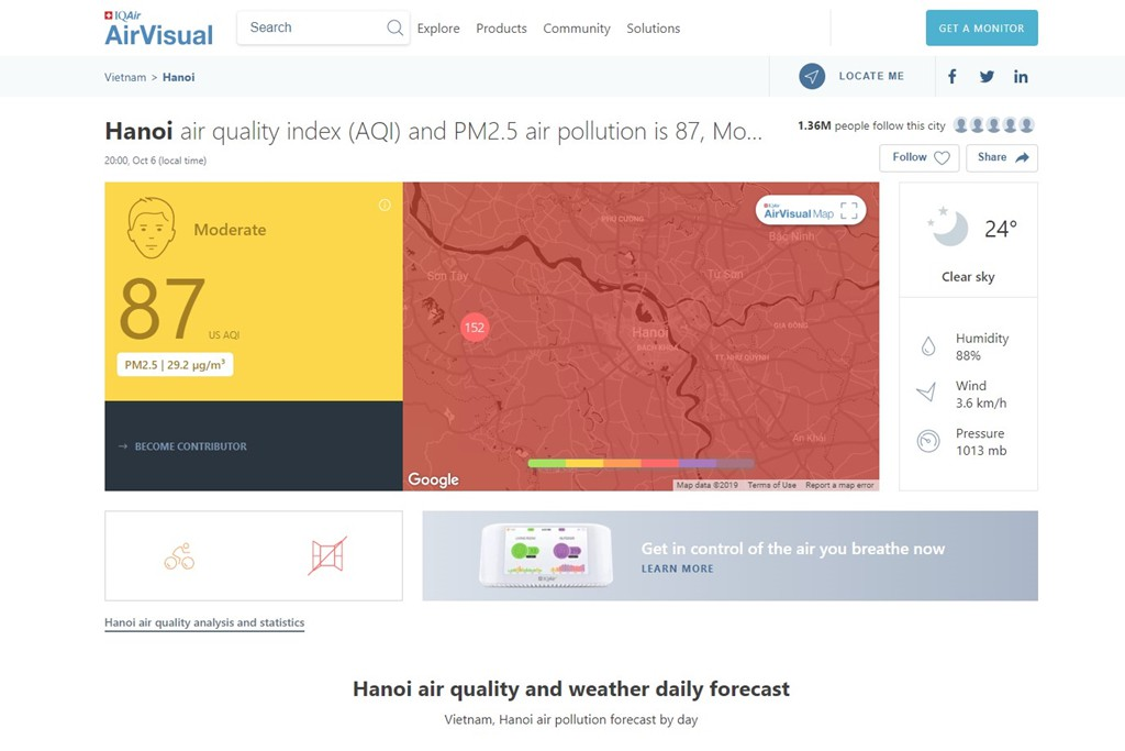 AirVisual phản bác thông tin cố tình thổi phồng chỉ số ô nhiễm - Ảnh 2.