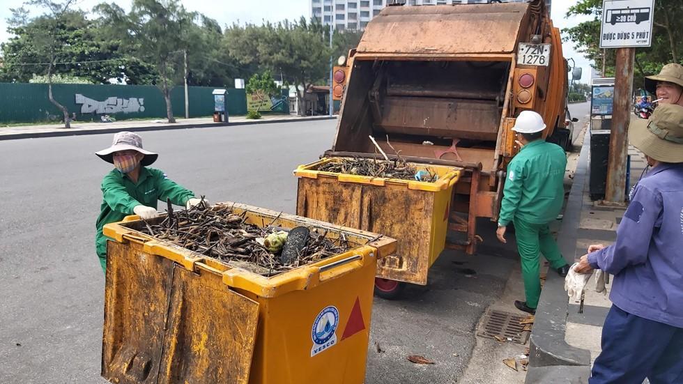 Bãi Sau biển Vũng Tàu 'đón' lượng rác khổng lồ dạt từ đại dương - Ảnh 4.