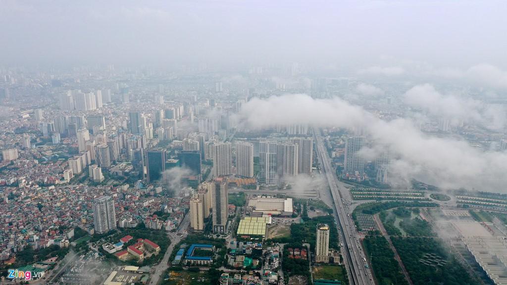 Mây quanh tòa nhà cao nhất Hà Nội sau khi không khí tốt đột biến - Ảnh 6.