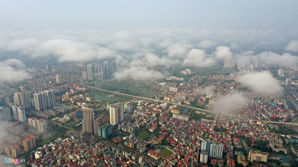 Mây quanh tòa nhà cao nhất Hà Nội sau khi không khí tốt đột biến - Ảnh 9.