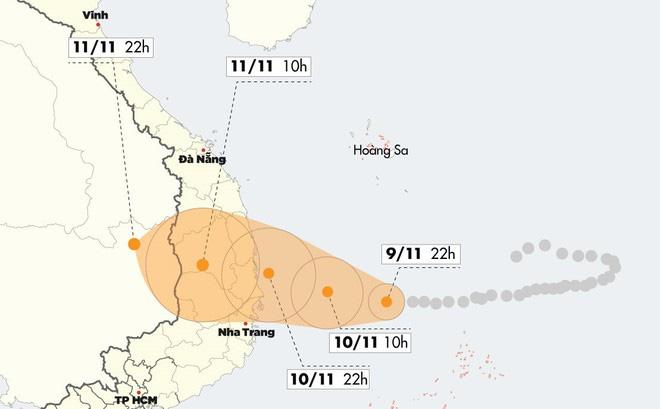 Bão số 6 mạnh cấp 11 áp sát Quảng Ngãi - Khánh Hòa - Ảnh 1.