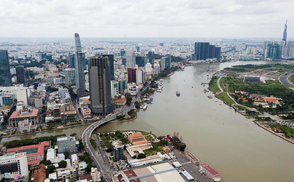 Đường ven sông trung tâm Sài Gòn sau 3 năm thay đổi qui hoạch - Ảnh 1.