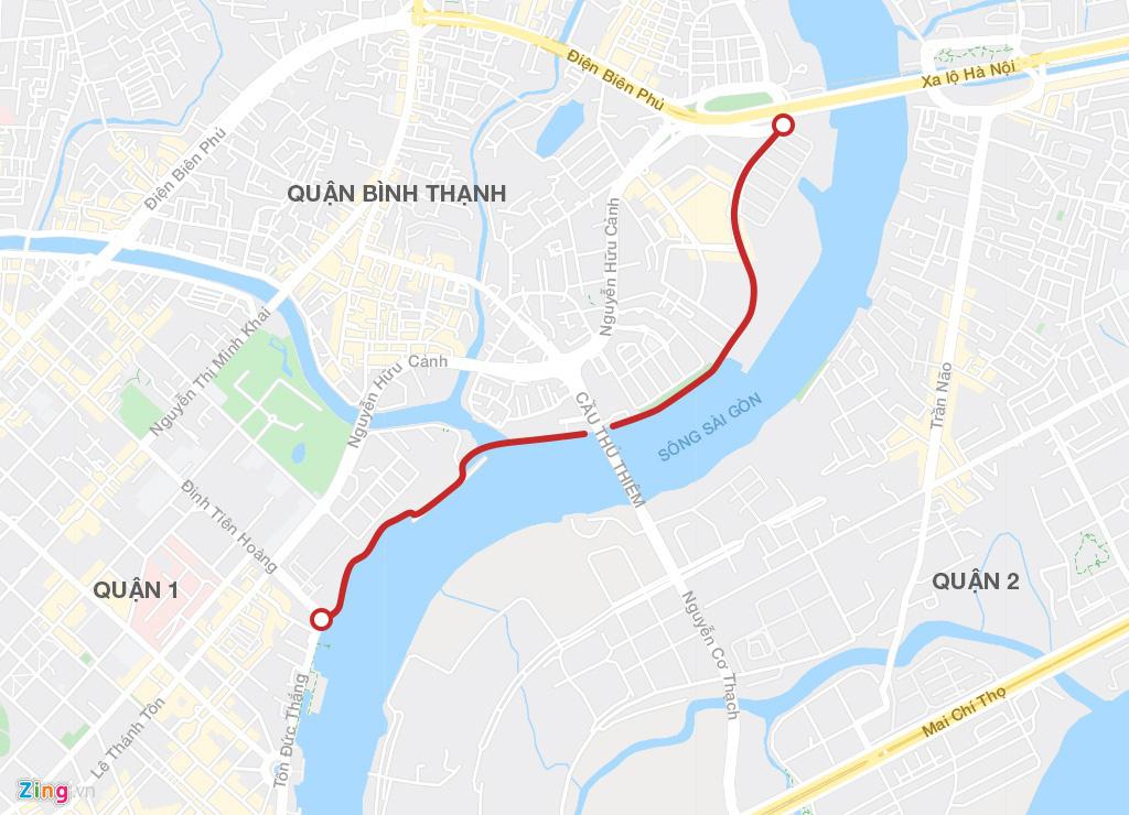 Đường ven sông trung tâm Sài Gòn sau 3 năm thay đổi qui hoạch - Ảnh 2.