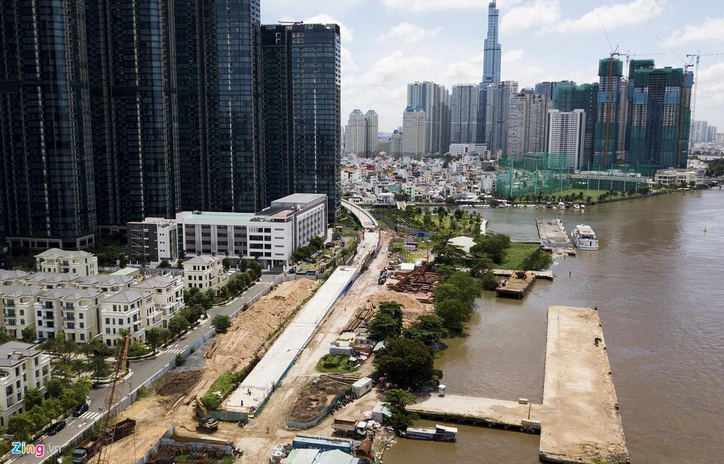Đường ven sông trung tâm Sài Gòn sau 3 năm thay đổi qui hoạch - Ảnh 8.