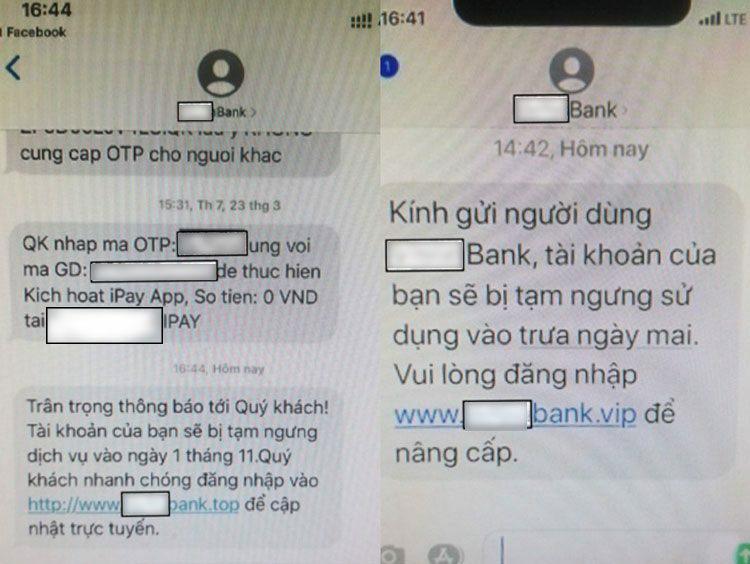 Bộ Công an cảnh báo thủ đoạn nhắn tin mạo danh ngân hàng - Ảnh 1.