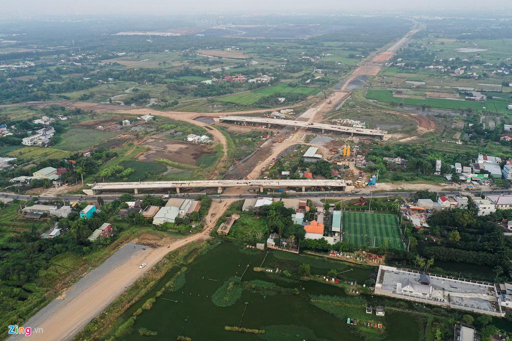 Cao tốc Bến Lức - Long Thành dở dang sau 5 năm thi công - Ảnh 9.