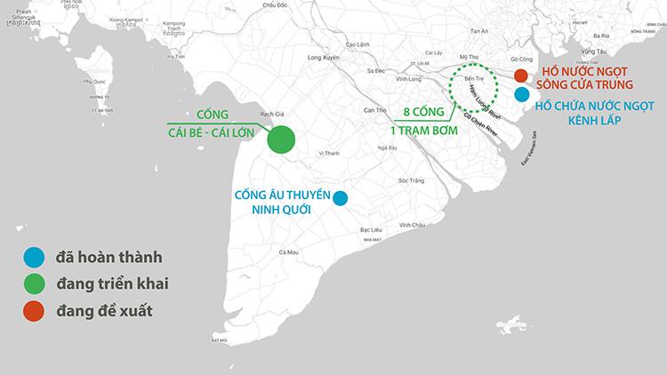 5 dự án chống hạn mặn ở miền Tây - Ảnh 4.