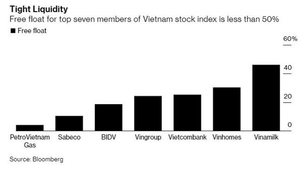Bloomberg: Cổ phiếu Việt Nam đang rẻ, nhưng nhà đầu tư nước ngoài lại không có nhiều cơ hội mua vì thanh khoản thấp - Ảnh 3.