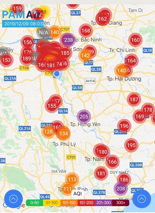 Không khí Hà Nội tái diễn ô nhiễm nghiêm trọng - Ảnh 1.