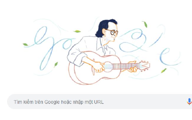 Trịnh Công Sơn là nghệ sĩ Việt Nam đầu tiên được Google vinh danh