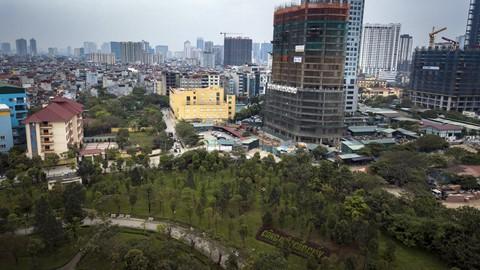 Toàn cảnh lá phổi xanh của Cầu Giấy, bị xin xén đất làm bãi đỗ xe - Ảnh 9.