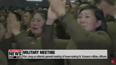 Ông Kim Jong Un phát biểu, quân nhân vừa ghi chép vừa khóc - Ảnh 6.