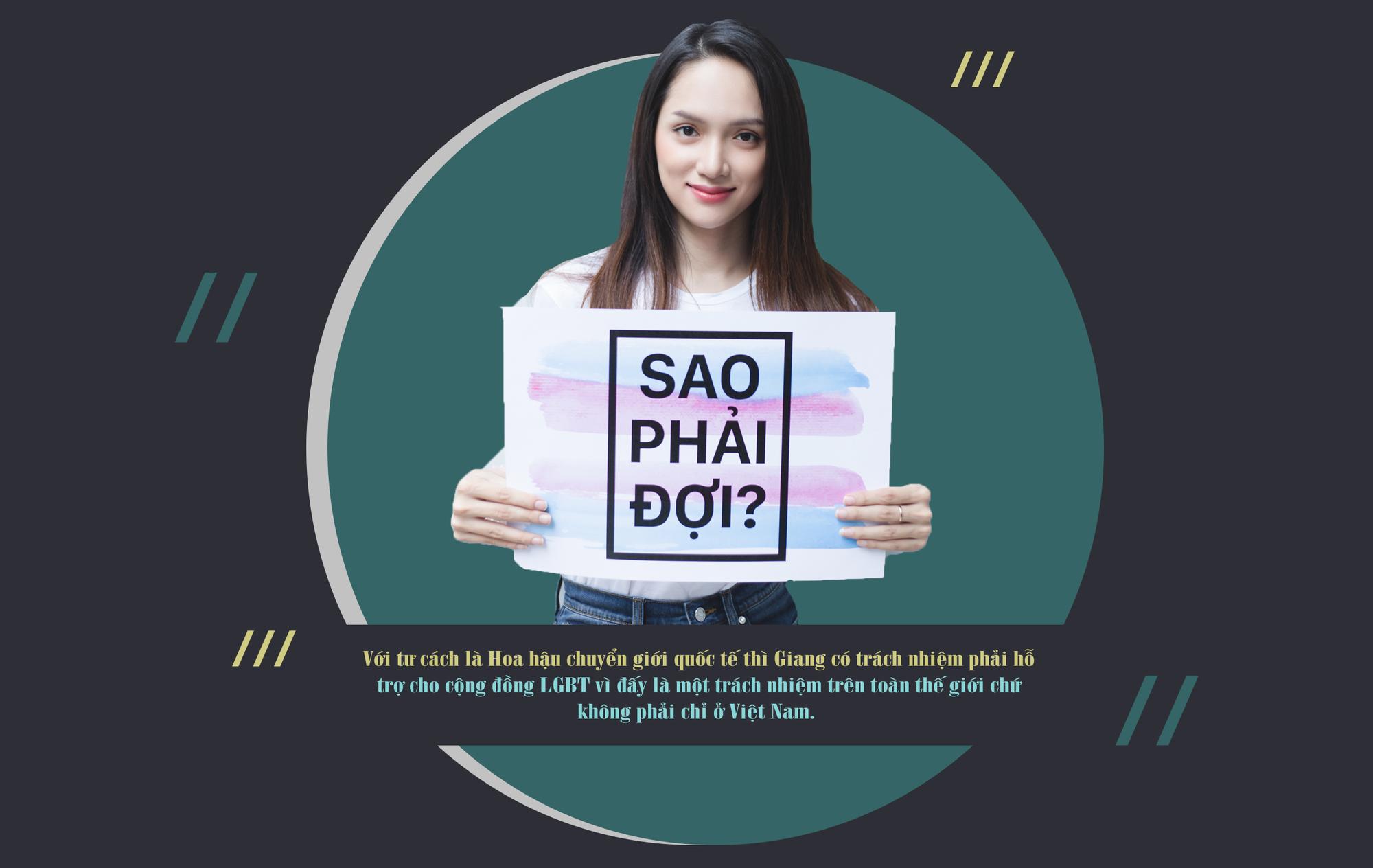 Hoa hậu Hương Giang: 'Tôi tha thiết mong cộng đồng LGBT cùng lên tiếng thúc đẩy quyền của người chuyển giới' - Ảnh 2.