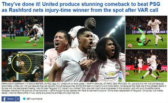 Báo chí Anh ngợi ca Man United sau kỳ tích hạ gục PSG - Ảnh 4.
