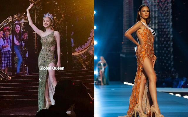 Váy Hương Giang sẽ mặc đêm chung kết Hoa hậu Chuyển giới 2019 bị nghi nhái Hoa hậu Hoàn vũ - Ảnh 3.