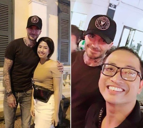 Beckham vui vẻ chụp ảnh cùng fan tại phố đi bộ ở TP.HCM - Ảnh 1.