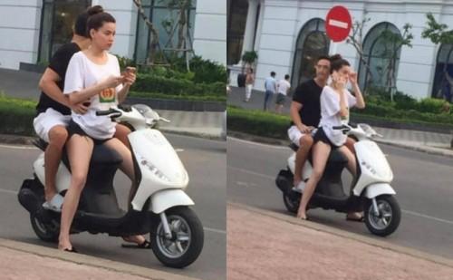 Hồ Ngọc Hà tái phạm lỗi không đội mũ bảo hiểm khi đi xe máy cùng Kim Lý - Ảnh 1.
