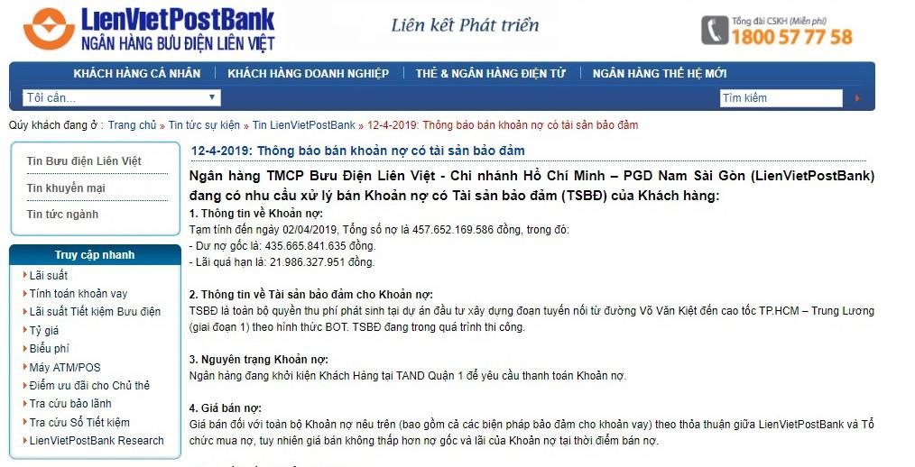 LienVietPostBank rao bán quyền thu phí dự án BOT dang dở - Ảnh 2.